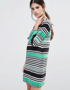 Цельнокройное платье в полоску Traffic People - Зеленый