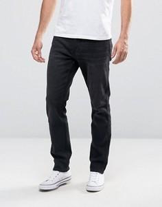 Черные выбеленные зауженные джинсы стретч Hollister - Черный