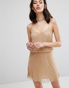 Платье с бисером Raga Dust In The Wind - Кремовый