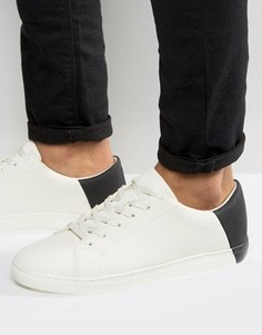 ASOS Trainers In White With Contrast Heel - Белый