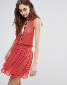 Платье мини с декоративной отделкой Raga Be Mine - Оранжевый