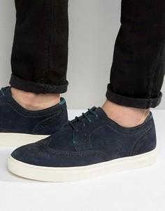 Замшевые кроссовки Ted Baker Rachet - Темно-синий