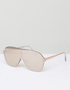 Большие солнцезащитные очки-авиаторы ASOS - Золотой