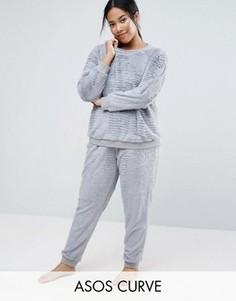 Супермягкая пижама ASOS CURVE - Серый