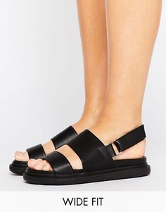 Массивные сандалии для широкой топы ASOS FENNEL - Черный