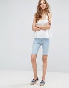 Удлиненные джинсовые шорты Vero Moda - Синий