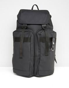 Черный рюкзак Rains Field - Зеленый