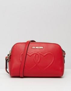 Сумка на плечо с двумя сердцами Love Moschino - Красный