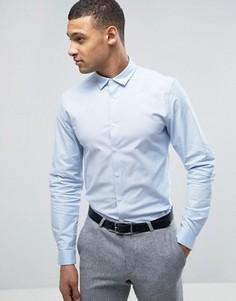 Узкая оксфордская рубашка ASOS - Синий
