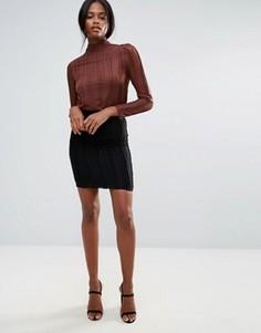Кружевная юбка-карандаш B.Young - Черный