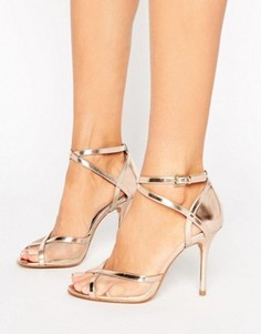 Head Over Heels By Dune Meryl Rose Gold Heeled Sandals - Золотой