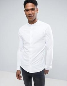 Премиум-рубашка слим с воротником на пуговицах Jack & Jones - Белый