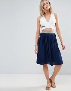 Wal G Midi Skirt - Темно-синий