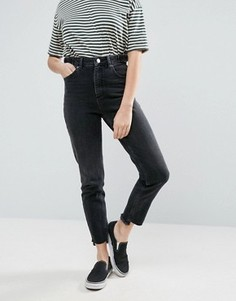 Черные узкие джинсы в винтажном стиле с завышенной талией ASOS FARLEIGH - Черный