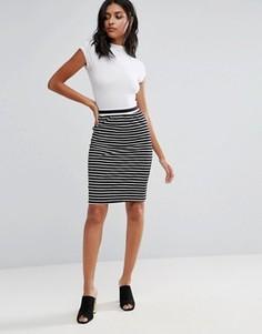 Glamorous Stripe Bodycon Skirt - Черный