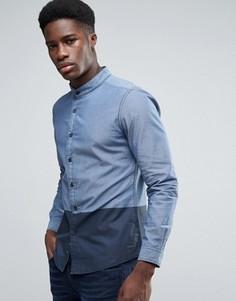 Рубашка в стиле колор блок с воротником на пуговицах Esprit - Темно-синий