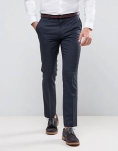 Темно-синие классические брюки в клеточку Harry Brown - Темно-синий