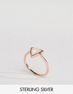Кольцо с треугольным лунным камнем Carrie Elizabeth - Золотой