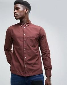 Бордовая оксфордская рубашка Waven - Красный