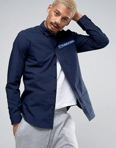Рубашка с карманом на молнии Love Moschino - Темно-синий