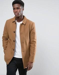 Шерстяное пальто Selected - Рыжий