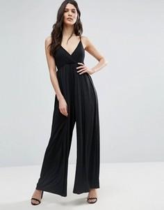 Комбинезон с широкими штанинами Jasmine - Черный