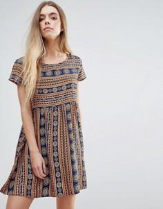 Свободное платье с принтом Brave Soul - Мульти
