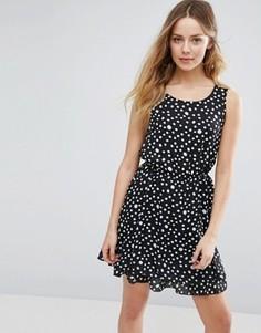 Свободное платье в горошек Jasmine - Черный