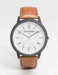 Часы со светло-коричневым кожаным ремешком Ben Sherman WB050WT - Рыжий