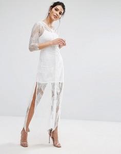 Кружевное платье-комбинация Goldie Karley - Белый