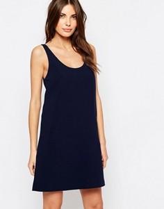 Цельнокройное платье в стиле 60-х с карманом Vila - Темно-синий