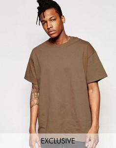 Oversize-футболка Reclaimed Vintage - Коричневый