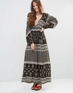 Платье макси с глубоким вырезом Raga The Remington - Черный