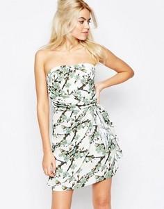 Платье-бандо с мелким цветочным принтом Traffic People - Кремовый