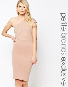 Платье-футляр на одно плечо John Zack Petite - Розовый