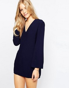 Темно-синее платье с завязками сбоку Finders Keepers Fly Away - Темно-синий