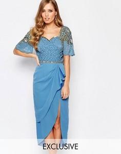 Платье миди с разрезом до бедра Virgos Lounge Laila - Синий