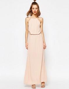 Платье макси с кружевными вставками Samsoe & Samsoe Willow - Розовый
