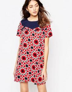 Платье в стиле вестерн со звездочками Noisy May Aubrey - Красный