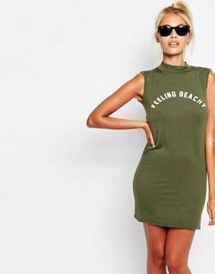 Облегающее платье-майка с принтом Feeling Beachy Adolescent Clothing - Зеленый