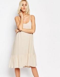Платье с бретельками и заниженной талией Gestuz Vea - Розовый
