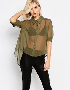 Рубашка цвета хаки Religion - Зеленый