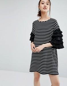 Платье-футболка в полоску Zacro - Черный