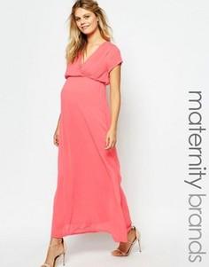 Платье макси для беременных с завязкой сзади Mamalicious - Розовый Mama.Licious