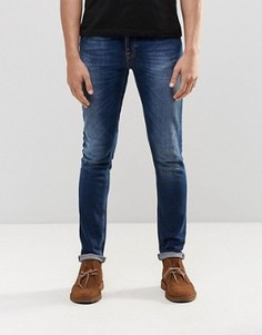 Темно-синие супероблегающие джинсы Nudie Skinny Lin - Синий
