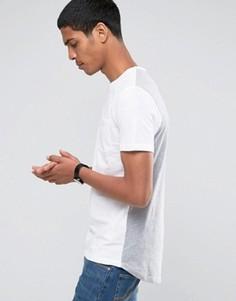 Двусторонняя хлопковая футболка с круглым вырезом Celio - Белый