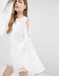 Топ с вышивкой Alice McCall A Love Like That - Белый
