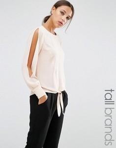 Блузка с разрезами на рукавах Y.A.S Tall Mystery - Розовый