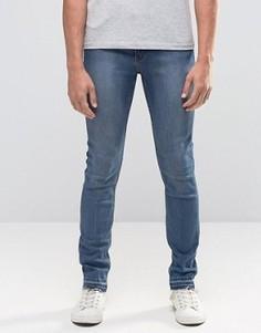Облегающие джинсы с необработанным краем Cheap Monday Utopia - Синий