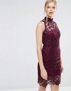 Кружевное платье Forever Unique Gillian - Фиолетовый